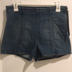 Express Side Zip Denim Shorts